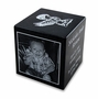 Black Granite Infant Child Cube Cremation Urn with Engraved Photo