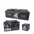 Black Granite Photo Urn Vaults