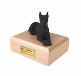 Black Great Dane Dog Figurine Pet Cremation Urn - 1226