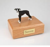 Black Greyhound Dog Figurine Pet Cremation Urn - 734