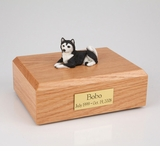 Black Husky Dog Figurine Pet Cremation Urn - 4022
