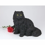 Black Longhair Cat Hollow Figurine Pet Cremation Urn - 2708