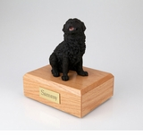 Black Newfoundland Dog Figurine Pet Cremation Urn - 160