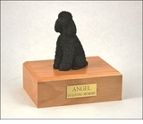 Black Poodle Dog Figurine Pet Cremation Urn - 1866