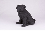 Black Pug Hollow Figurine Pet Cremation Urn - 2770