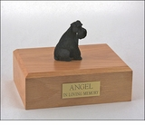 Black Schnauzer Dog Figurine Pet Cremation Urn - 1908