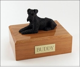 Black Schnauzer Dog Figurine Pet Cremation Urn - 199