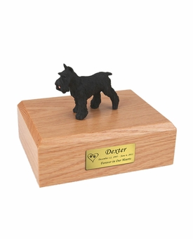 Black Schnauzer Dog Figurine Pet Cremation Urn - 841