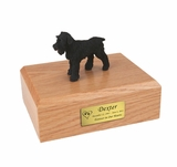 Black Schnauzer Dog Figurine Pet Cremation Urn - 842