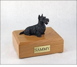 Black Scottish Terrier Dog Figurine Pet Cremation Urn - 207