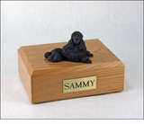 Black Show Cut Poodle Dog Figurine Pet Cremation Urn - 805