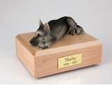 Black Silver German Shepherd Dog Figurine Pet Cremation Urn - 1581