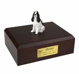 Black Springer Spaniel Dog Figurine Pet Cremation Urn - 1920