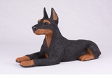 Black Tan Doberman Pincher Hollow Figurine Pet Cremation Urns - 2743