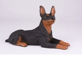 Black Tan Miniature Pincher Hollow Figurine Pet Cremation Urn - 2757