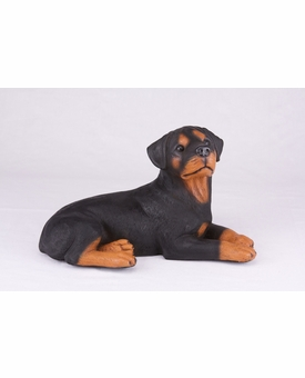 Black Tan Rottweiler Hollow Figurine Pet Cremation Urn - 2771