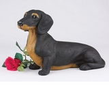 Black Tan Shorthair Dachshund Hollow Figurine Pet Cremation Urns - 2738