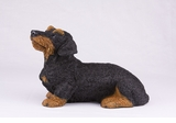 Black Tan Wire Haired Dachshund Hollow Figurine Pet Cremation Urns - 2741
