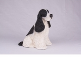 Black White Cocker Spaniel Hollow Figurine Pet Cremation Urns - 2733
