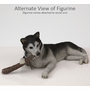 Black White Husky Dog Figurine Pet Cremation Urn - 1602