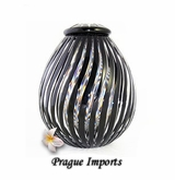 Black Zita Lead Crystal Cremation Urn