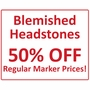 Blemished Reduced Price Photo Grave Marker Black Granite Laser-Engraved Memorial Headstone