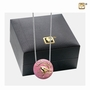 Blessingbirds Pink Enamel Gold Vermeil Sterling Silver Cremation Jewelry Pendant Necklace