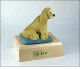 Blond Cocker Spaniel Dog Figurine Pet Cremation Urn - 1554