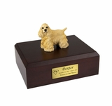 Blond Cocker Spaniel Dog Figurine Pet Cremation Urn - 682