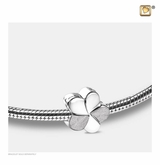 Bloom Rhodium Plated Sterling Silver Cremation Jewelry Bead