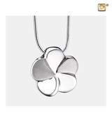 Bloom Rhodium Plated Sterling Silver Cremation Jewelry Pendant Necklace