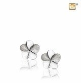 Bloom Rhodium Plated Sterling Silver Memorial Jewelry Stud Earrings