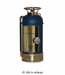 Blue Fire Extinguisher Firefighter Cremation Urn