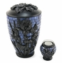 Blue Iris Glass Mosaic Cremation Urn