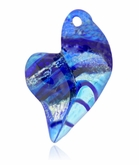 Blue is My Heart Cremains Encased in Glass Cremation Jewelry Pendant