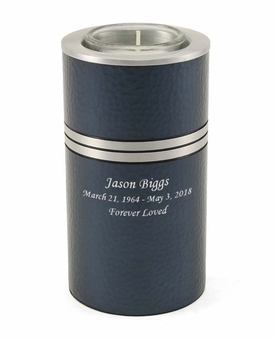 Blue Legacy Metallics Keepsake Memory Tealight Candle Urn