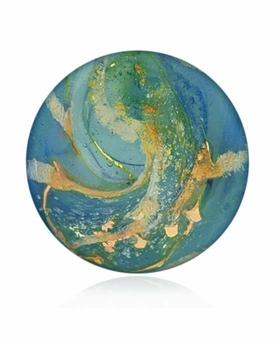 Blue Sky Cremains Encased in Glass Cremation Healing Stone