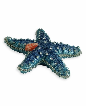 Blue Starfish Jeweled Keepsake Cremation Urn