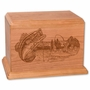 Boat Bass Fishing Cherry Wood Newport Laser Carved Cremation Urn