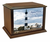 Bodie Island Light Station Eternal Reflections Wood Cremation Urn - 4 Sizes