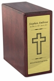 Bookshelf Rosewood Finish Wood Cremation Urn