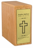 Bookshelf Scattering Oak Wood Cremation Urn