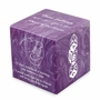 Booties Amethyst Small Cube Infant Cremation Urn - Engravable