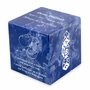 Booties Cobalt Small Cube Infant Cremation Urn - Engravable