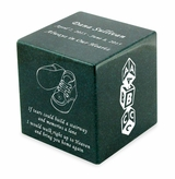 Booties Sea Holly Small Cube Infant Cremation Urn - Engravable