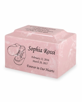 Booties Small Classic Infant or Child Cremation Urn - Engravable