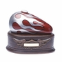 Born to Ride Motorcycle Gas Tank Cremation Urn, Red - Silver