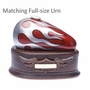 Born to Ride Motorcycle Gas Tank Keepsake Cremation Urn, Red - Silver