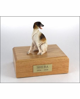 Borzoi Dog Figurine Pet Cremation Urn - 321