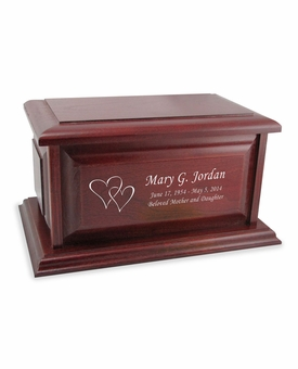 Boston II Walnut Finish Wood Cremation Urn